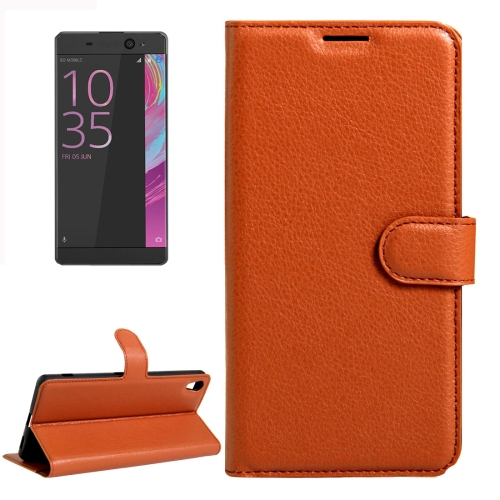 Buy For Sony Xperia XA Ultra Litchi Texture Horizontal Flip Leather Case with Magnetic Buckle & Holder & Card Slots & Wallet, Brown for $2.19 in SUNSKY store