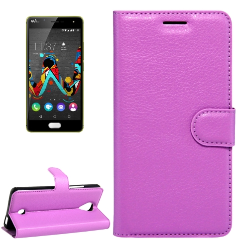 Buy For Wiko U Feel Litchi Texture Horizontal Flip Leather Case with Magnetic Buckle & Holder & Card Slots & Wallet, Purple for $2.17 in SUNSKY store