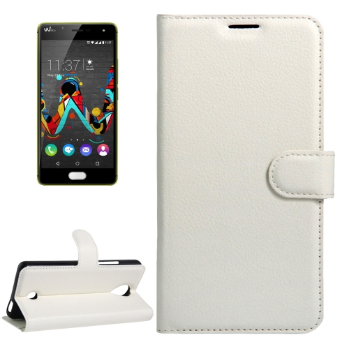 Buy For Wiko U Feel Litchi Texture Horizontal Flip Leather Case with Magnetic Buckle & Holder & Card Slots & Wallet, White for $2.17 in SUNSKY store