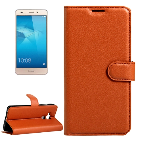 Buy Huawei Honor 5C Litchi Texture Horizontal Flip Leather Case with Magnetic Buckle & Holder & Card Slots & Wallet, Brown for $2.30 in SUNSKY store
