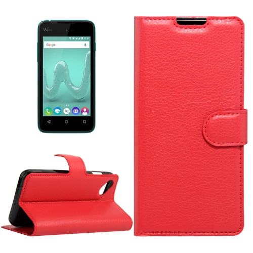 Buy For Wiko Sunny & B-Kool Litchi Texture Horizontal Flip Leather Case with Magnetic Buckle & Holder & Card Slots & Wallet, Red for $2.20 in SUNSKY store