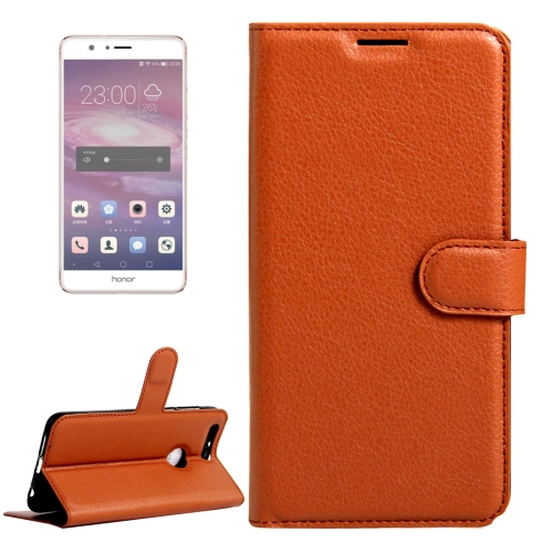 Buy Huawei Honor 8 Litchi Texture Horizontal Flip Leather Case with Magnetic Buckle & Holder & Card Slots & Wallet, Brown for $2.31 in SUNSKY store