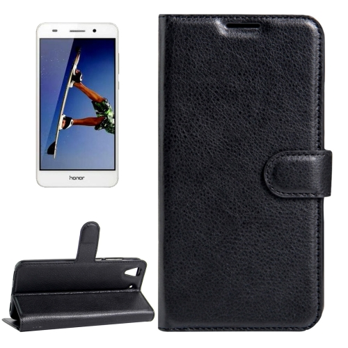 Buy Huawei Honor 5A & Y6 II Litchi Texture Horizontal Flip Leather Case with Magnetic Buckle & Holder & Card Slots & Wallet, Black for $2.20 in SUNSKY store
