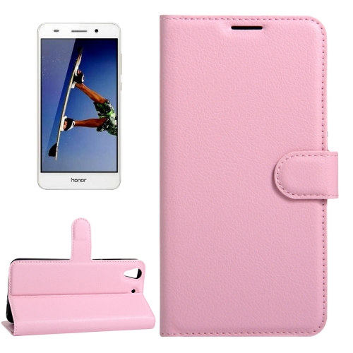Buy Huawei Honor 5A & Y6 II Litchi Texture Horizontal Flip Leather Case with Magnetic Buckle & Holder & Card Slots & Wallet, Pink for $2.30 in SUNSKY store