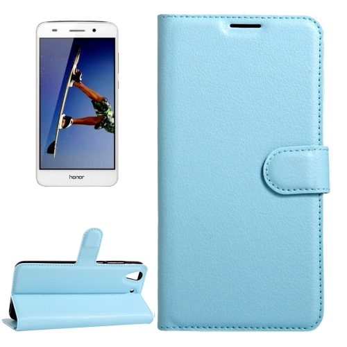 Buy Huawei Honor 5A & Y6 II Litchi Texture Horizontal Flip Leather Case with Magnetic Buckle & Holder & Card Slots & Wallet, Blue for $2.20 in SUNSKY store