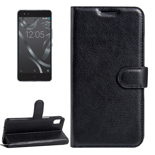 Buy For BQ Aquaris X5 Litchi Texture Horizontal Flip Leather Case with Magnetic Buckle & Holder & Card Slots & Wallet, Black for $2.30 in SUNSKY store