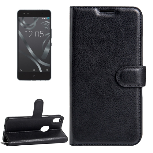 Buy For BQ Aquaris X5 Plus Litchi Texture Horizontal Flip Leather Case with Magnetic Buckle & Holder & Card Slots & Wallet, Black for $2.68 in SUNSKY store