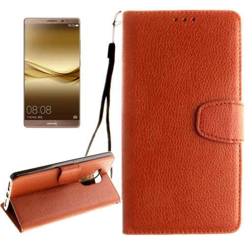 Buy Huawei Mate 8 Litchi Texture Horizontal Flip Leather Case with Magnetic Buckle & Holder & Card Slots & Wallet & Photo Frame & Lanyard, Brown for $2.42 in SUNSKY store