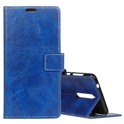 Lenovo K8 Retro Crazy Horse Texture Horizontal Flip Leather Case with Holder & Card Slots & Wallet & Photo Frame, Blue