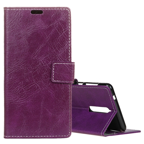 Buy Lenovo K8 Retro Crazy Horse Texture Horizontal Flip Leather Case with Holder & Card Slots & Wallet & Photo Frame, Purple for $3.19 in SUNSKY store
