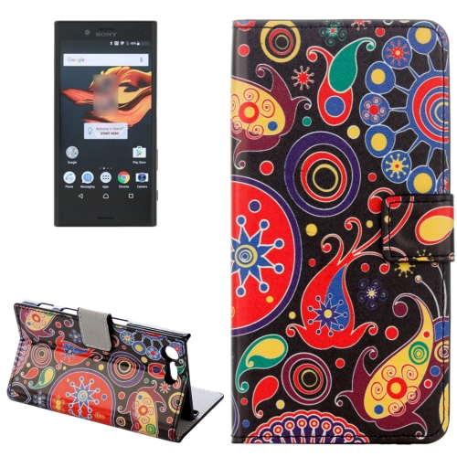 Buy For Sony Xperia X Compact Abstract Flowers Pattern Horizontal Flip Leather Case with Holder & Card Slots & Wallet for $2.31 in SUNSKY store