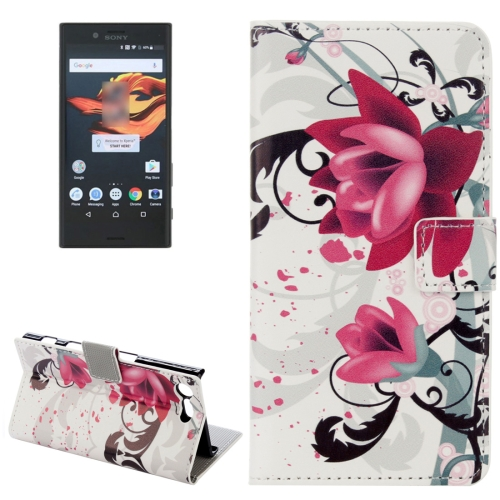 Buy For Sony Xperia X Compact Lotus Pattern Horizontal Flip Leather Case with Holder & Card Slots & Wallet for $2.20 in SUNSKY store
