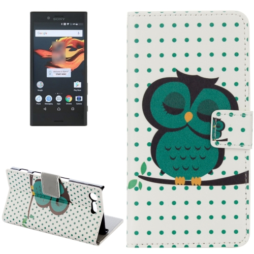 Buy For Sony Xperia X Compact Dot Owl Pattern Horizontal Flip Leather Case with Holder & Card Slots & Wallet for $2.20 in SUNSKY store