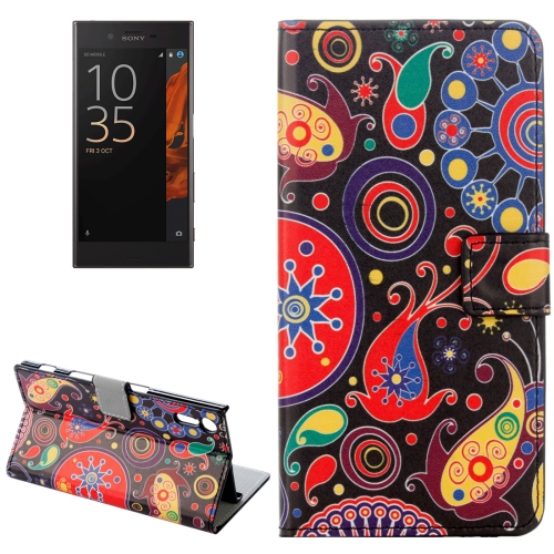 Buy For Sony Xperia XZ Abstract Flowers Pattern Horizontal Flip Leather Case with Holder & Card Slots & Wallet for $2.31 in SUNSKY store