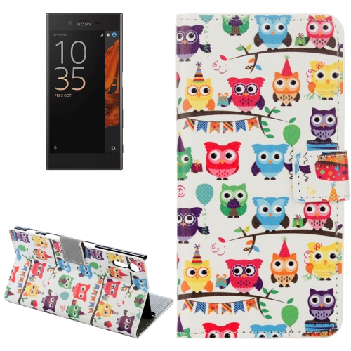 Buy For Sony Xperia XZ Owls Pattern Horizontal Flip Leather Case with Holder & Card Slots & Wallet for $2.31 in SUNSKY store