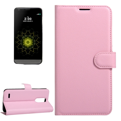For LG LV5 Litchi Texture Horizontal Flip Leather Case with Magnetic Buckle & Holder & Card Slots & Wallet, Small Quantity Recommended Before LG LV5 Launching, Pink