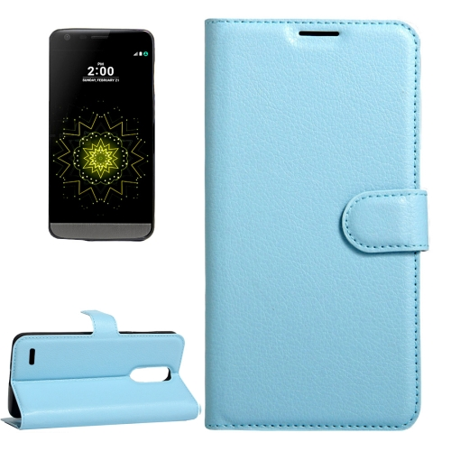 Buy For LG LV5 Litchi Texture Horizontal Flip Leather Case with Magnetic Buckle & Holder & Card Slots & Wallet, Small Quantity Recommended Before LG LV5 Launching, Blue for $2.28 in SUNSKY store
