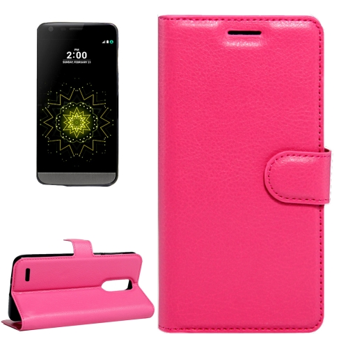 Buy For LG LV5 Litchi Texture Horizontal Flip Leather Case with Magnetic Buckle & Holder & Card Slots & Wallet, Small Quantity Recommended Before LG LV5 Launching, Magenta for $2.28 in SUNSKY store