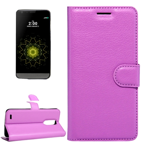 Buy For LG LV5 Litchi Texture Horizontal Flip Leather Case with Magnetic Buckle & Holder & Card Slots & Wallet, Small Quantity Recommended Before LG LV5 Launching, Purple for $2.28 in SUNSKY store
