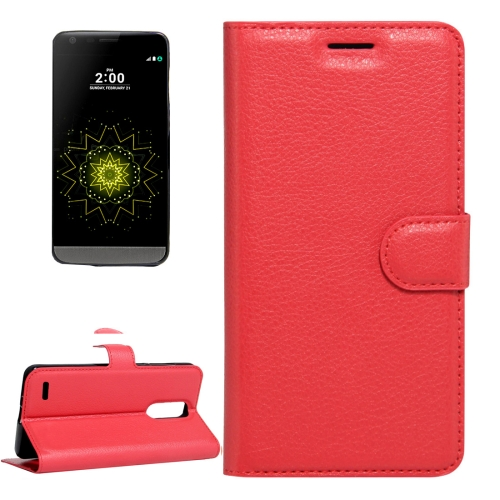 Buy For LG LV5 Litchi Texture Horizontal Flip Leather Case with Magnetic Buckle & Holder & Card Slots & Wallet, Small Quantity Recommended Before LG LV5 Launching, Red for $2.28 in SUNSKY store