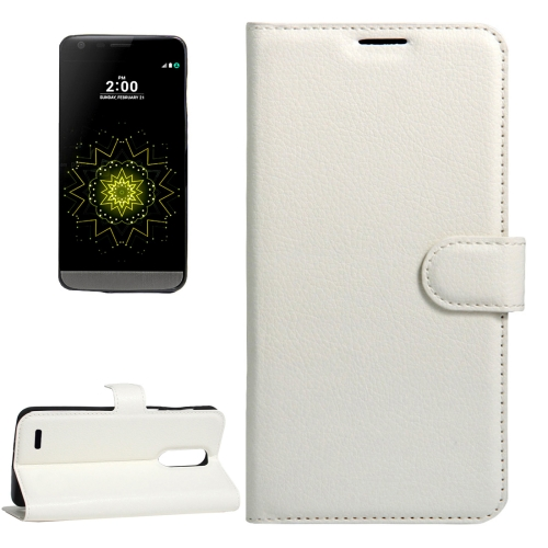 Buy For LG LV5 Litchi Texture Horizontal Flip Leather Case with Magnetic Buckle & Holder & Card Slots & Wallet, Small Quantity Recommended Before LG LV5 Launching, White for $2.28 in SUNSKY store