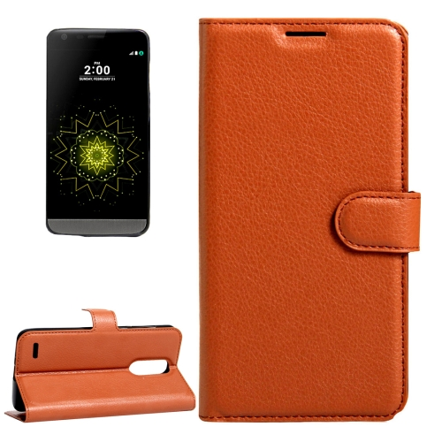 Buy For LG LV5 Litchi Texture Horizontal Flip Leather Case with Magnetic Buckle & Holder & Card Slots & Wallet, Small Quantity Recommended Before LG LV5 Launching, Brown for $2.28 in SUNSKY store