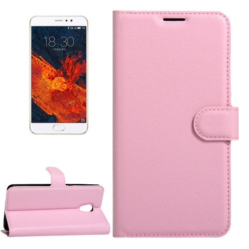 Buy Meizu PRO 6 Plus Litchi Texture Horizontal Flip Leather Case with Magnetic Buckle & Holder & Card Slots & Wallet, Pink for $2.28 in SUNSKY store