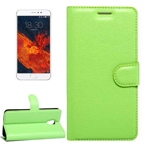 Buy Meizu PRO 6 Plus Litchi Texture Horizontal Flip Leather Case with Magnetic Buckle & Holder & Card Slots & Wallet, Green for $2.28 in SUNSKY store