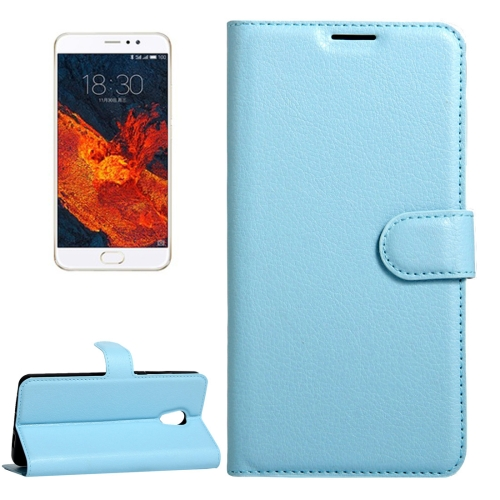 Buy Meizu PRO 6 Plus Litchi Texture Horizontal Flip Leather Case with Magnetic Buckle & Holder & Card Slots & Wallet, Blue for $2.28 in SUNSKY store