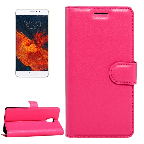 Buy Meizu PRO 6 Plus Litchi Texture Horizontal Flip Leather Case with Magnetic Buckle & Holder & Card Slots & Wallet, Magenta for $2.28 in SUNSKY store