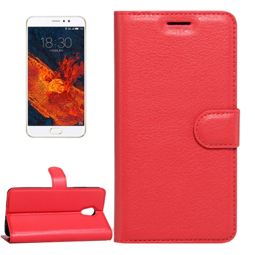 Buy Meizu PRO 6 Plus Litchi Texture Horizontal Flip Leather Case with Magnetic Buckle & Holder & Card Slots & Wallet, Red for $2.28 in SUNSKY store