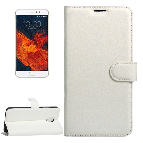 Buy Meizu PRO 6 Plus Litchi Texture Horizontal Flip Leather Case with Magnetic Buckle & Holder & Card Slots & Wallet, White for $2.28 in SUNSKY store