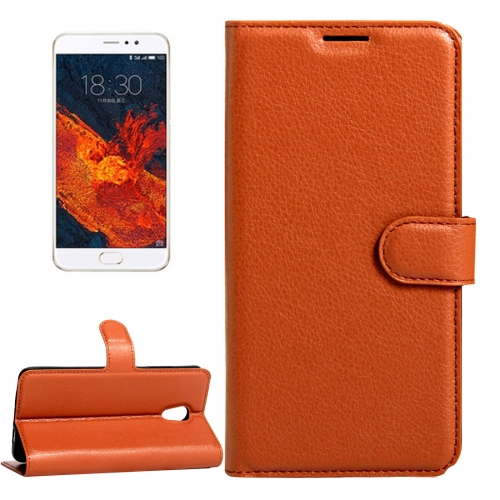 Buy Meizu PRO 6 Plus Litchi Texture Horizontal Flip Leather Case with Magnetic Buckle & Holder & Card Slots & Wallet, Brown for $2.28 in SUNSKY store