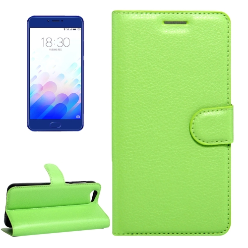 Buy Meizu Meilan X Litchi Texture Horizontal Flip Leather Case with Magnetic Buckle & Holder & Card Slots & Wallet, Green for $2.28 in SUNSKY store