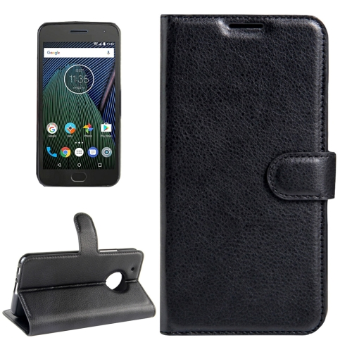 Buy For Motorola Moto G Plus (5th Gen.) Litchi Texture Horizontal Flip Leather Case with Magnetic Buckle & Holder & Card Slots & Wallet, Black for $2.31 in SUNSKY store