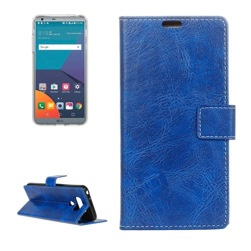 Buy For LG G6 Retro Crazy Horse Texture Horizontal Flip Leather Case with Holder & Card Slots & Wallet & Photo Frame, Blue for $2.96 in SUNSKY store