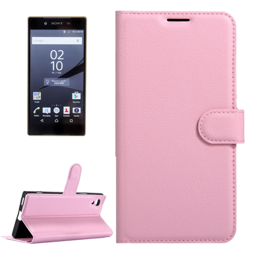Buy For Sony Xperia Z6 Litchi Texture Horizontal Flip Leather Case with Magnetic Buckle & Holder & Card Slots & Wallet, Small Quantity Recommended Before Sony Xperia Z6 Launching, Pink for $2.32 in SUNSKY store