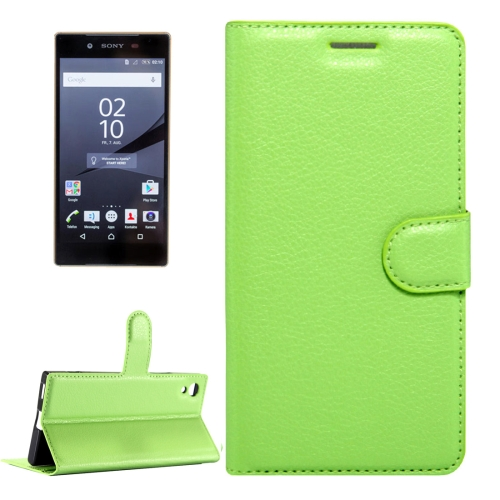 Buy For Sony Xperia Z6 Litchi Texture Horizontal Flip Leather Case with Magnetic Buckle & Holder & Card Slots & Wallet, Small Quantity Recommended Before Sony Xperia Z6 Launching, Green for $2.32 in SUNSKY store