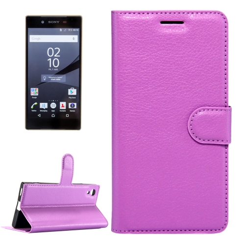 Buy For Sony Xperia Z6 Litchi Texture Horizontal Flip Leather Case with Magnetic Buckle & Holder & Card Slots & Wallet, Small Quantity Recommended Before Sony Xperia Z6 Launching, Purple for $2.32 in SUNSKY store