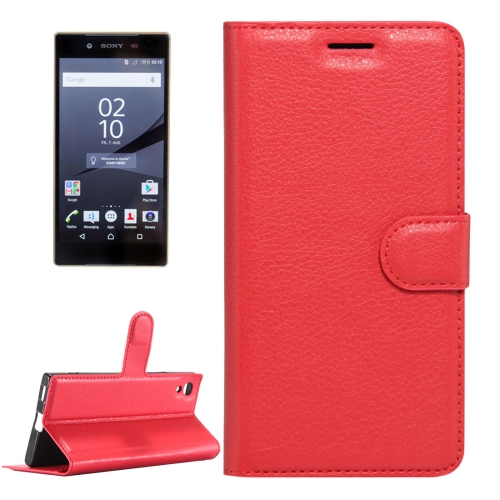 Buy For Sony Xperia Z6 Litchi Texture Horizontal Flip Leather Case with Magnetic Buckle & Holder & Card Slots & Wallet, Small Quantity Recommended Before Sony Xperia Z6 Launching, Red for $2.32 in SUNSKY store