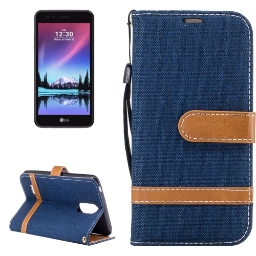 Buy For LG K4, 2017 Denim Texture Leather Case with Holder & Card Slots & Wallet & Lanyard (Dark Blue) for $2.67 in SUNSKY store