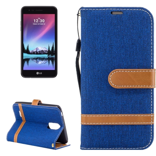 Buy For LG K4, 2017 (EU Version) Denim Texture Leather Case with Holder & Card Slots & Wallet & Lanyard, Blue for $2.68 in SUNSKY store