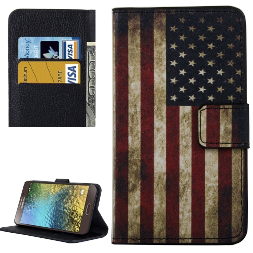 Buy For Samsung Galaxy E5 / E500 US Flag Pattern Leather Case with Holder & Card Slots & Wallet for $2.30 in SUNSKY store