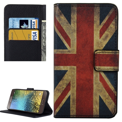 Buy For Samsung Galaxy E5 / E500 UK Flag Pattern Leather Case with Holder & Card Slots & Wallet for $2.30 in SUNSKY store