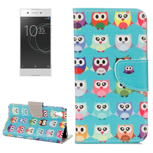 Buy For Sony Xperia XA1 Ultra Cartoon Owls Pattern Horizontal Flip Leather Case with Holder & Card Slots & Wallet for $2.20 in SUNSKY store