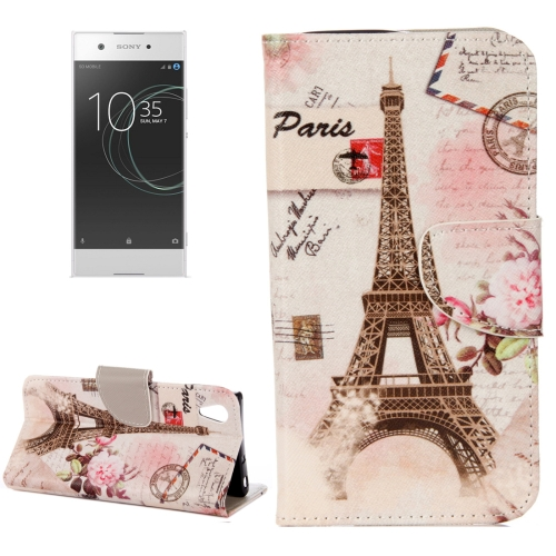 Buy For Sony Xperia XA1 Ultra Eiffel Tower Pattern Horizontal Flip Leather Case with Holder & Card Slots & Wallet for $2.31 in SUNSKY store