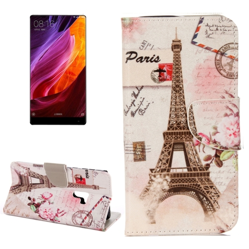 Buy Xiaomi Mi MIX Eiffel Tower Pattern Horizontal Flip Leather Case with Holder & Card Slots & Wallet for $2.29 in SUNSKY store