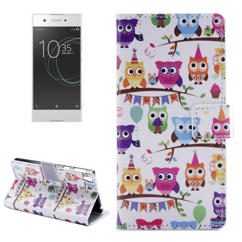 Buy For Sony Xperia XA1 Many Heads Owls Pattern Horizontal Flip Leather Case with Holder & Card Slots & Wallet for $2.30 in SUNSKY store