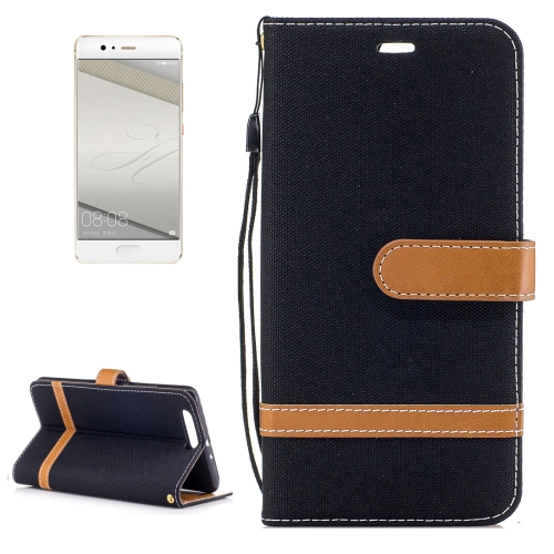 Buy Huawei P10 Plus Denim Texture Leather Case with Holder & Card Slots & Wallet & Lanyard, Black for $2.53 in SUNSKY store