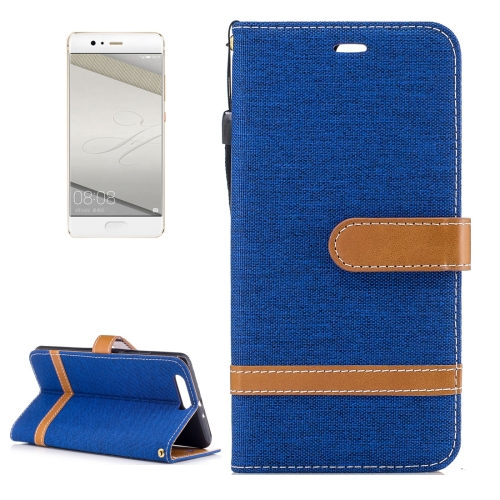 Buy Huawei P10 Plus Denim Texture Leather Case with Holder & Card Slots & Wallet & Lanyard, Blue for $2.52 in SUNSKY store